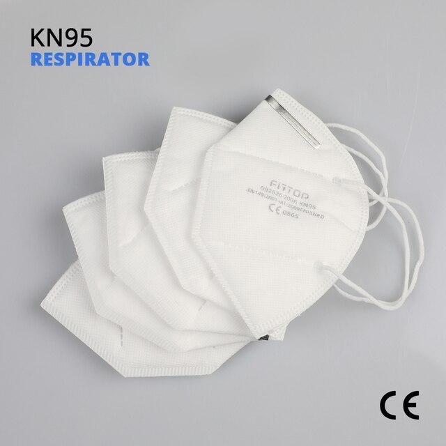 5 pcs KN95 Certificazione CE Viso Maschera N95 FFP3 Bocca Maschera Anti Forte di Protezione di FFP2 KF94 1