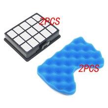 2 ensemble de filtres pour aspirateur Kit de pièces de rechange et filtre éponge pour samsung DJ97-00492A SC6520 SC6530 /40/50/60/70/80/90