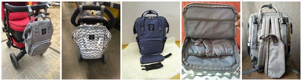 H17408f2e1a484904b5c037a00509f1a7Y LEQUEEN Fashion USB Mummy Maternity Diaper Bag Large Nursing Travel Backpack Designer Stroller Baby Bag Baby Care Nappy Backpack