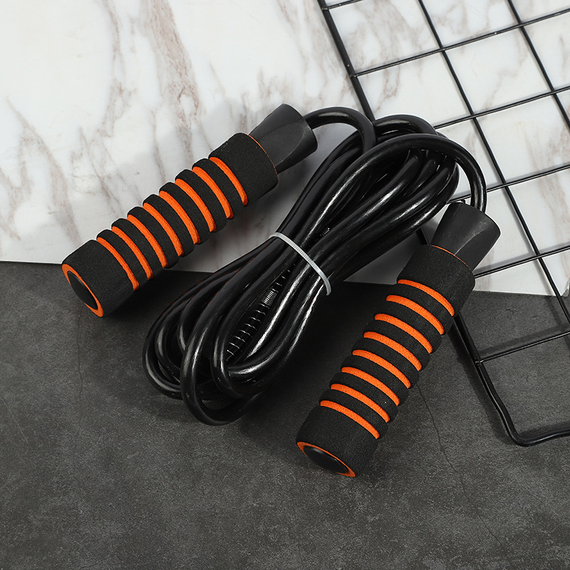 New Style Wearable Rough Jump Rope Bearing Handle Jump Rope High Grade Foam Case Bearing Handle Jump Rope