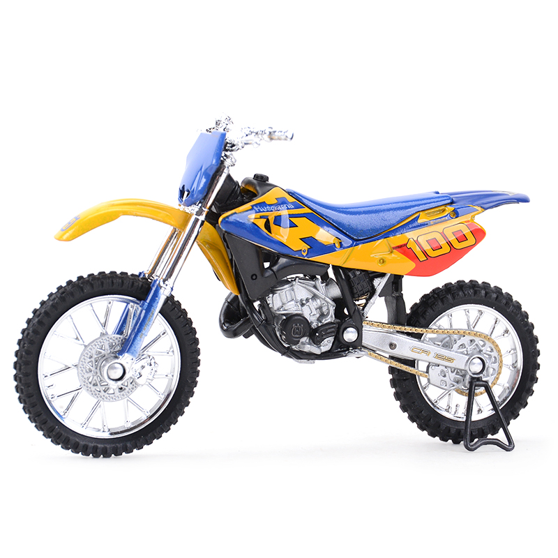 Welly 1:18 Husqvarna CR125 Diecast Alloy Motorcycle Model Toy