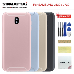 New Full Housing case J530 J730 For Samsung Galaxy J5 J7 2017 Front Middle Frame Board +Battery Cover Back Door Housing