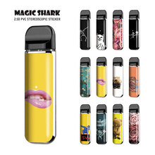 Magic Shark Cat Lip Simpson Rick and Morty Bear Skull No Fade PVC Film Vape Sticker Pod Skin Case Cover for Smok Novo pod vape smok nord kit 1100mah