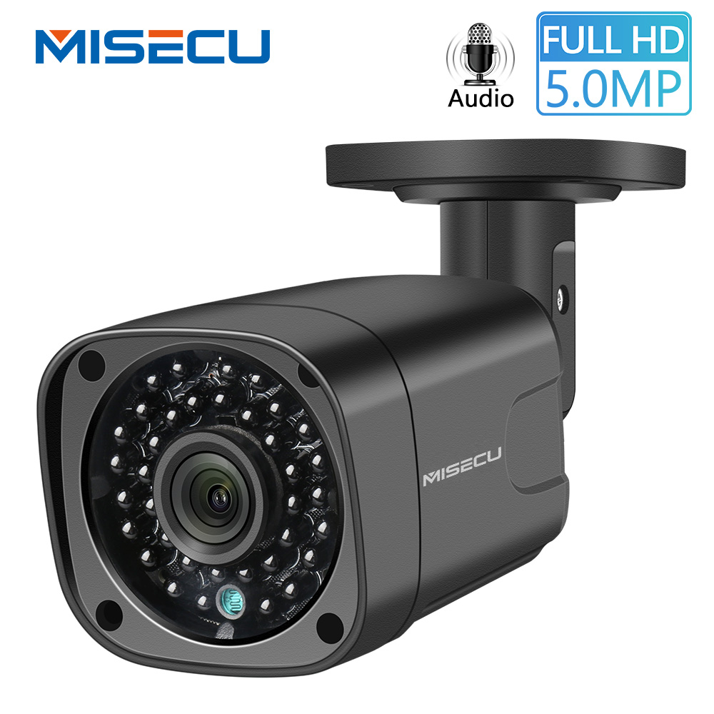 MISECU Surveillance Camera PoE H.265 2MP 5MP IP Camera Audio Bullet Outdoor Waterproof CCTV Camera Onvif Infrared  Remote View