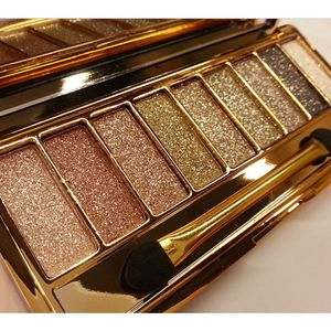 New 9 Colors Eyeshadow Palette Women Diamond Bright Shining Colorful Makeup Eye Shadow Flash Glitter Make Up Set With Brush