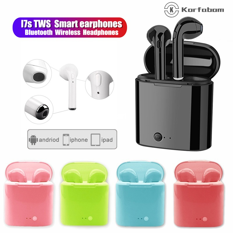 I7s Tws Wireless Earphones Bluetooth Headphones Colorful Earbuds Quality Sound Headset For Iphone Xiaomi Redmi Huawei Samsung