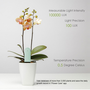 Image 5 - Mais novo origina hhcc flor grama monitor digital grama flor inteligente tester sensor de cuidados com a água do solo luz detector planta detectar