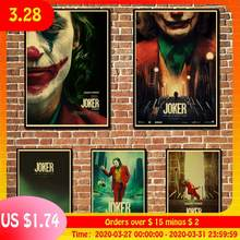 Joaquin Phoenix Joker 2019 DC Movie Comics Wall Art Painting Print On Coffee Retro Poster Pictures Halloween Home Deco(China)