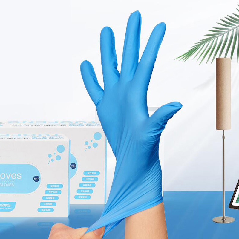 High Quality 100 Pcs Disposable Nitrile Gloves, Non-Toxic, Food Safe, Beauty Household Medical Industrial Dark Blue S M L