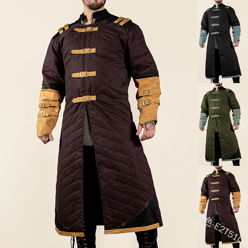 Medieval Cotton Costume Gambeson Jacket Battle Hero Outfit Winter Padded Coat