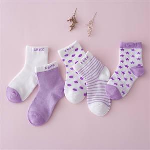 5 Pair=10PCS/lot Baby Socks Neonatal Summer Mesh Cotton Dots Plain Stripes Kids Girls Boys Children Socks for 1-3 Year