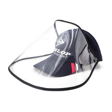 STARTRC Anti-fog baseball cap protective cap grocery shopping work protective equipment isolation sheet detachable navy