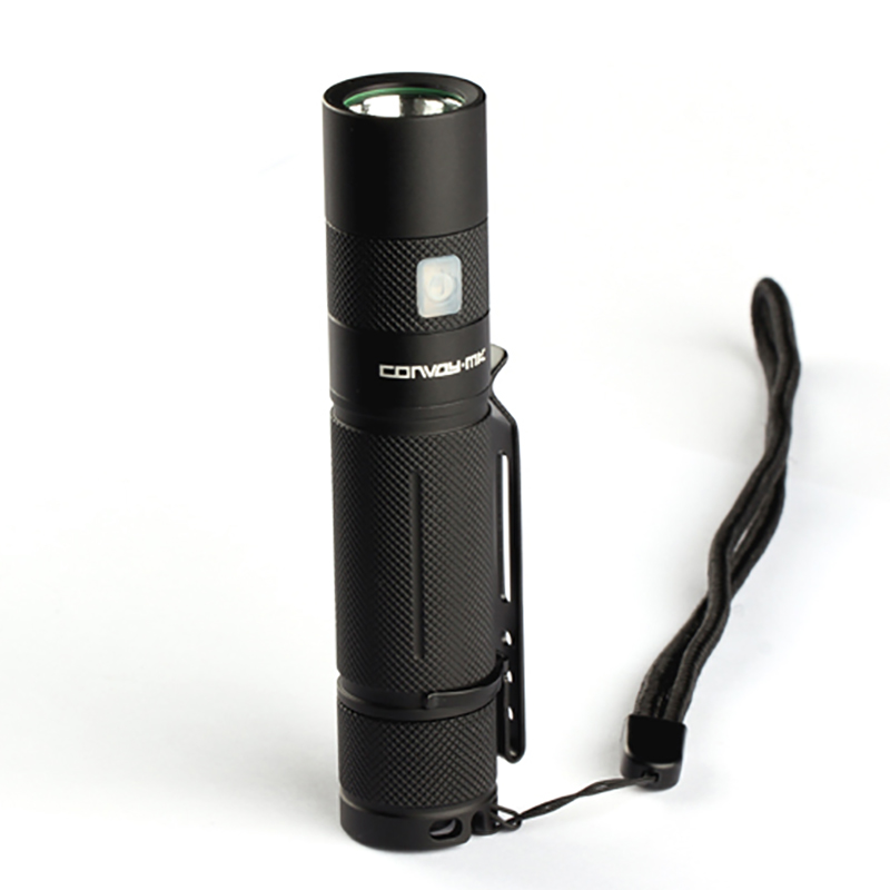2.5A Convoy S9 L2 1000LM 5Modes Memory Function USB Rechargeable EDC Flashlight Waterproof LED Torch for Camping Hunting