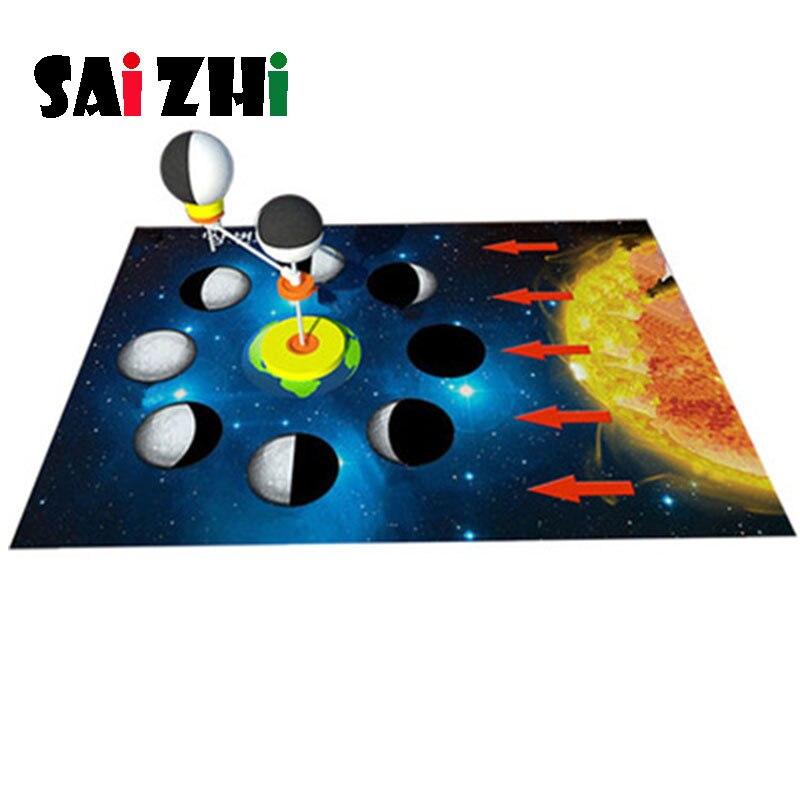 Saizhi Diy Moon Phase Cause Developing Intellectual STEM Toy Science Experiment Kit Kids Lab Set Birthday Gift SZ3239