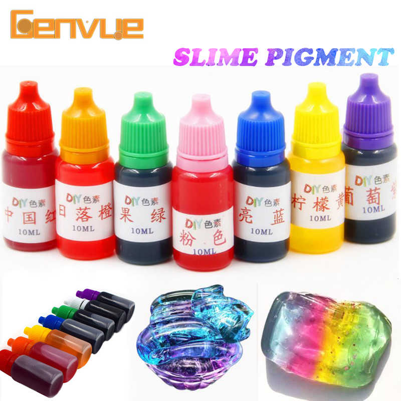 Dye Pigment Addition For Slime Supplies Clear Liquid Making Polymer Clay Accessories Fluffy Slime Charms Art Crystal Mud Toy Kit