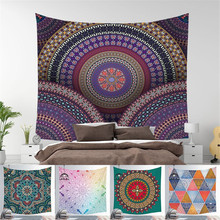 mandala style Mandala Tapestry Polyester Bohemian Wall Hanging Decor Blanket Indian Style Yoga Sleeping Tapestry Mandala Wall Fabric