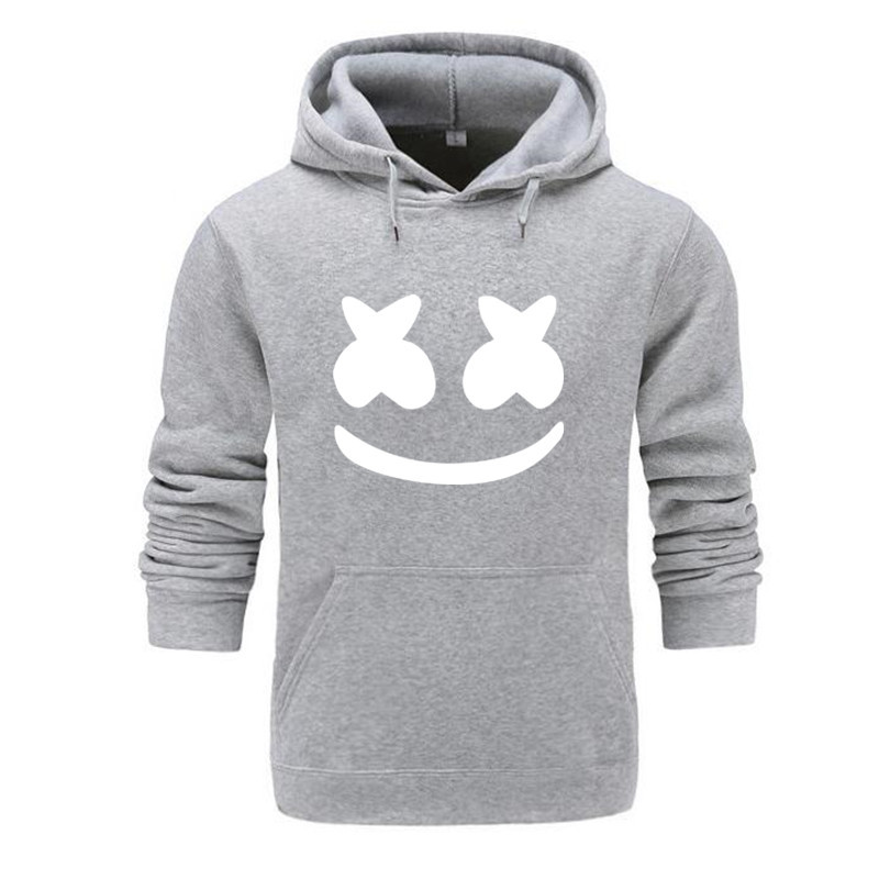 2019 New Style Trend Marshmello Cotton Candy Smiley Wearing Drum DJ Hooded Sweater