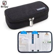 Brilljoy bolsa com isolamento médico, portátil, saco para gelo, medicamentos, para viagem, refrigerador, caixa de alumínio