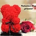 Schöne ferien geschenke rose blütenblätter bär simulation rosen rose bär valentinstag geschenk bär puppe paar geschenk