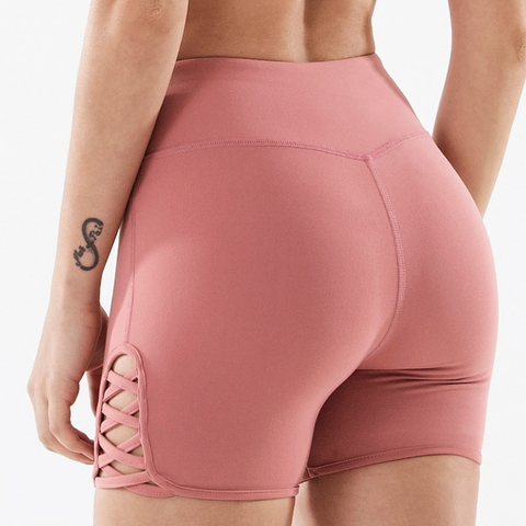 COPOZZ Spandex Sexy Fitness Jogger Shorts Womens High Waist Yoga Sport Workout Shorts Tummy Control Seamless Gym Athletic Shorts Islamabad