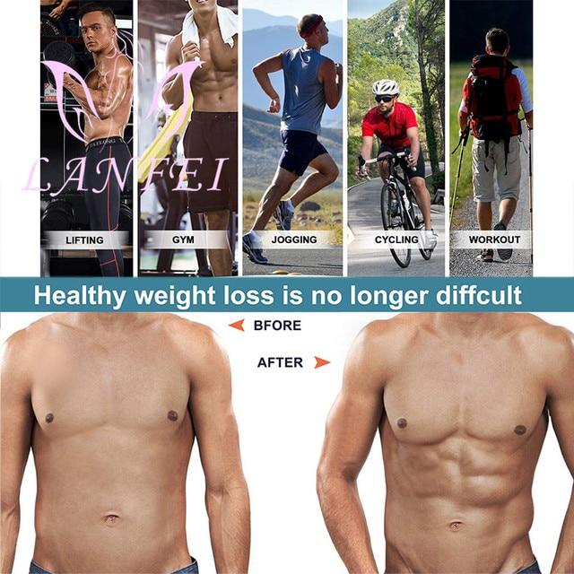 LANFEI Mens Body Shaper Modeling Strap Waist Trainer Cincher Slimming Belt Fajas Hot Neoprene Sweat Sauna Gym Weight Loss Corset 3