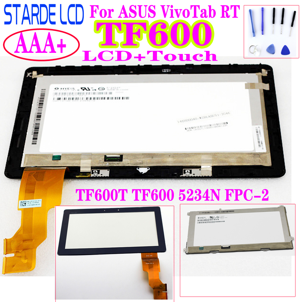 For ASUS VivoTab RT TF600T TF600 TF600TG 5234N FPC-2 LCD Displa;y Touch Screen Digitizer Assembly Replacement Part