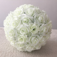 Yapay bez çiçek renkli top gül gelin buketi öpüşme topu buket