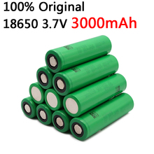 10pcs 100% original 3.7V 3000 mAh Li ion rechargeable 18650 battery for us18650 vtc6 20A 3000mAh for Sony toys tools flashlight