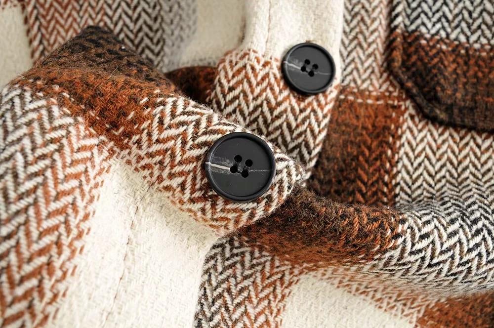 H1742f01ba1bd4540a16b837992769ebeo Vintage women 2019 long sleeve woolen coats fashion ladies thick plaid coat female streetwear elegant girls oversize jacket chic