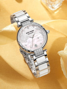 Watch Women Link Automatic Bracelet Wrist Tiger/rt Luxury Brand Calendar Ceramic Diamond