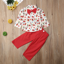 Kids Baby Boy Christmas T-Shirt+Shorts Outfits Set