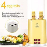 4 egg roll Electric Automatic Multifunctiona Mini Egg Roll Maker Omelette Breakfast Egg Boiler Kitchen Cooking Egg Cooker EU