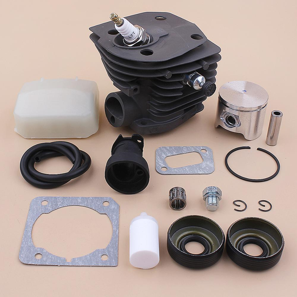 44mm Cylinder Piston Kit For Husqvarna 346XP 350 351 353 Air Fuel Filter Line Oil Seal Intake Manifold Chainsaw 503869971