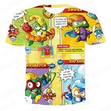 Verão 3dt camisa anime padrão super zings crianças senhoras homens respirável malha fina grande harajuku o-neck 110-6xl