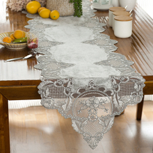 NEW Velvet Water Soluble Lace Embroidered European Luxury Table Runner Restaurant Kitchen Coffee Mat Christmas Weding Decoration