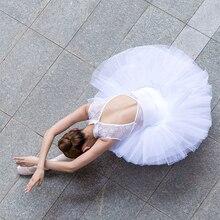 Professionelle Schwan See Dance Weiß Schwarz Rosa Elastische Taille Erwachsene Ballett Tutu Ballerina Weiche 4 Schicht Mesh Tüll Ball Rock tutus