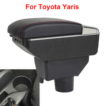 цена на For Toyota Yaris Armrest Toyota Yaris 2017 2015 2018 2019 2car armrest box car accessories central storage box Retrofit parts