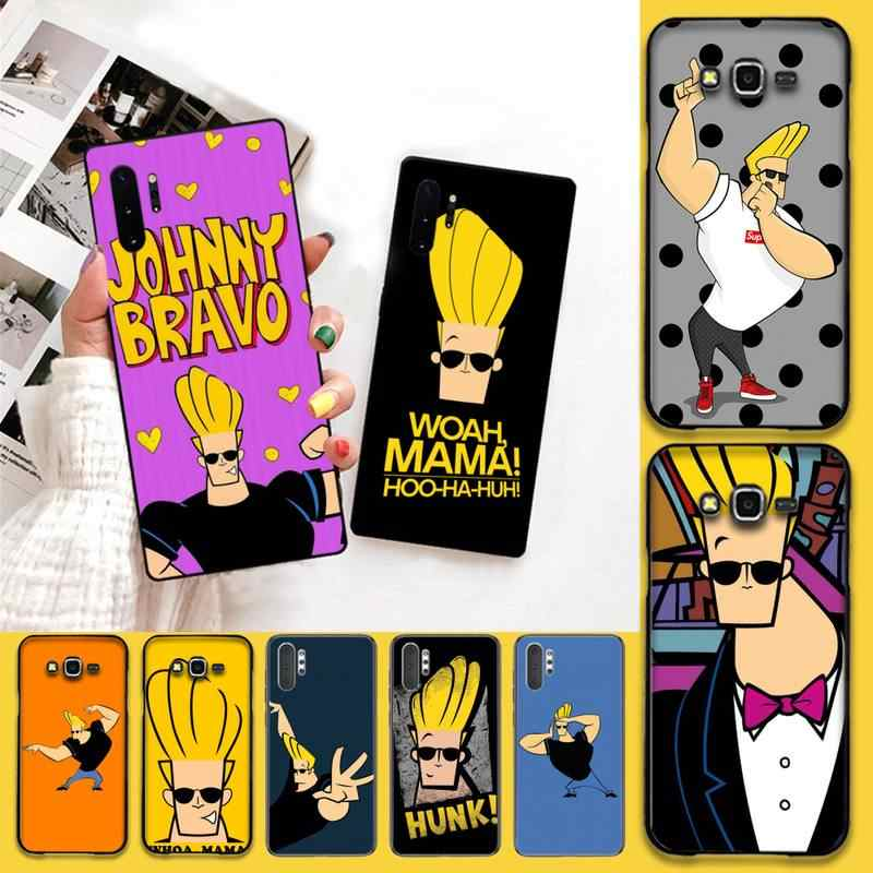 CUTEWANAN Cartoon Johnny Bravo Luxus Einzigartige Design Telefon Abdeckung Für Samsung Note 7 8 9 10 pro Galaxy J7 J8 j6 Plus 2018 Prime