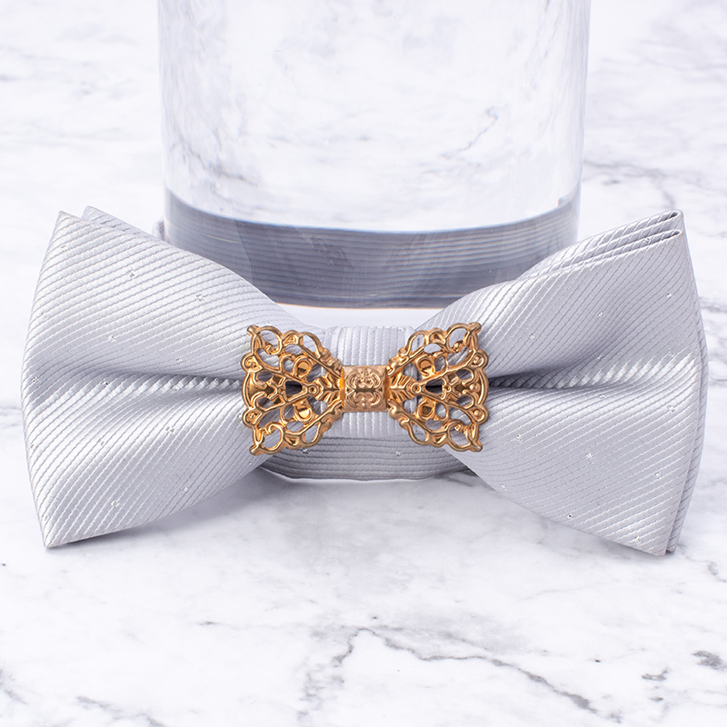 New Arrival Men's 3 Colors Bow Tie Metal Bow Decoration Necktie For Men Women Boy Suits Wedding Business Party