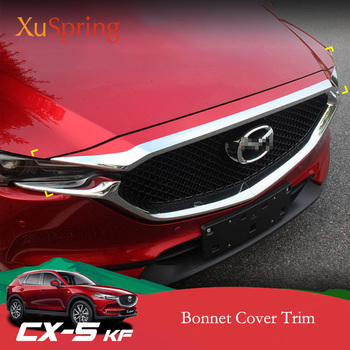 Car Front Grill Hood Labium Engine Cover Trim Garnish Stickers Accessories Styling For Mazda CX-5 CX5 2017 2018 2019 KF