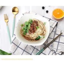 4pcs/Set Korean 304 Stainless Steel Chopstick Tableware Knife And Fork Spoon Set Western Food Hotel Dessert Knife And Fork Spoon