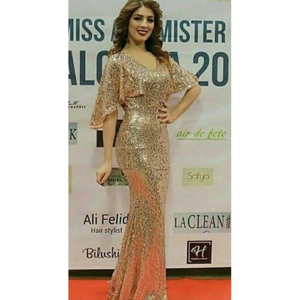 Mermaid Prom Cocktail Dresses Plus Size Arabic Muslim Evening Formal Dress Gown Long 2019 Robe De Soiree