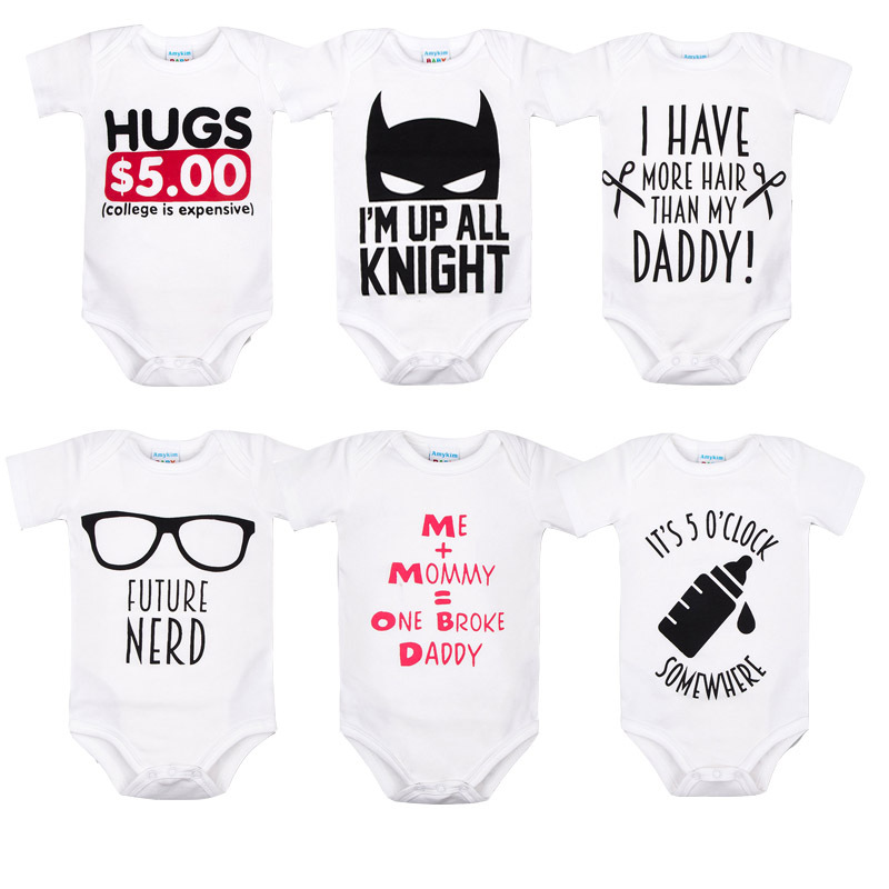 Baby Onesie Cartoon Printed Summer Cotton Baby Romper Newborns Climbing Clothes Europe And America Clothes For Babies