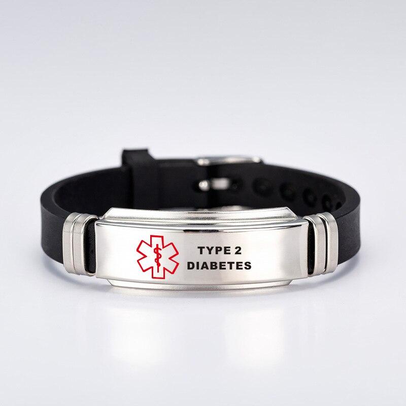 Silicone Medical Alert Id Bracelet