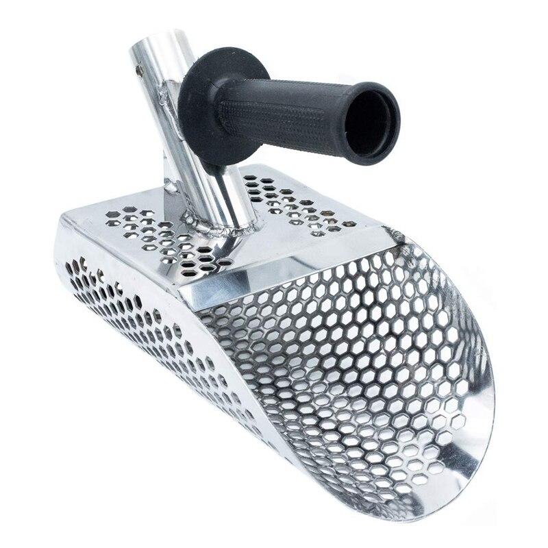 Promoção! a Colher de Areia para a Detecção do Metal de Aço Inoxidável com Furos do Hexahedron Plástico da Caça do Tesouro da Praia 7mm para o Punho