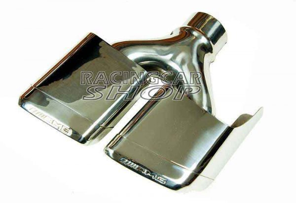 S63 S65 AMG STYLE Dual Exhaust Tips Pipes Fit For Mercedes Benz W212 E350 E500 E550 E63 W221 W166 W204 1PAIR M121W 3