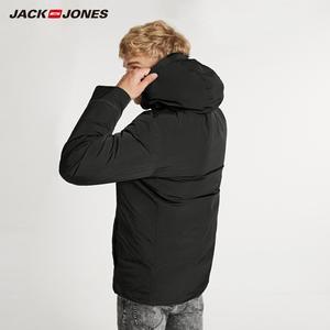 Image 3 - JackJones de invierno de los hombres casual brillante color con capucha por la chaqueta de deportes 218312532