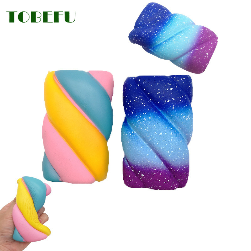 TOBEFU Cute Marshmallow Squishy PU Scented Antistress Squishes Slow Rising Toys For Kids Gift