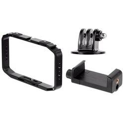 Handheld Camera Cage for OSMO Action/YI/EKEN for Gopro 7 6 Smartphone Stand Holder Video Vlog Grip Stabilizer Rig Bracket