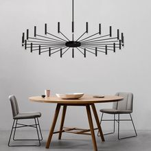 Modern Decor LED Chandelier Lighting Creative Design Bedroom Living Room Bar Hanging Lamp Black Supension Diningroom Chandeliers modern black chandelier lighting for living room bedroom wedding decoration chandeliers lamp hanging suspension modern lighting